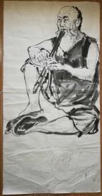 手绘真迹国画:无款20190521-20(四尺)