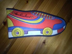 鞋型皮HR--9210A 文具盒 内有各种笔盒四个彩色活动笔芯