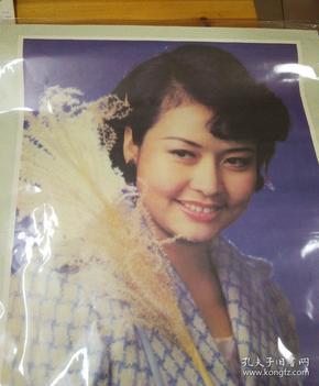 彭丽×宣传画,够大幅!1989年10月第一版第一次印刷,陕西人民美术出版社出版发行
