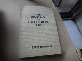 the reading of theoretical texts  理论文本的阅读 武汉大学著名教授周长城签名藏书