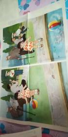 幼儿园 图片 对开1张《小军照相》 蒋昌一  画