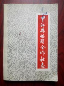 中江县供销合作社志,中江供销1936-1985年,中江文史