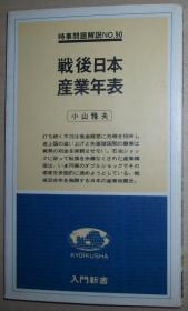 日文原版书 戦后日本产业年表  (入门新书―时事问题解说〈no.90〉) 1978/10 小山雅夫 (著)
