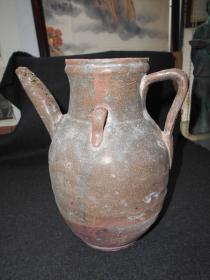 土场收来的【宋代,釉陶水壶】高20厘米,有裂纹