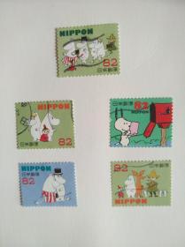 日本邮票·卡通史努比5信