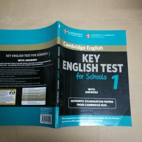 Cambridge Key English Test for Schools 1 Students Book with answers[剑桥英语入门考试教程]