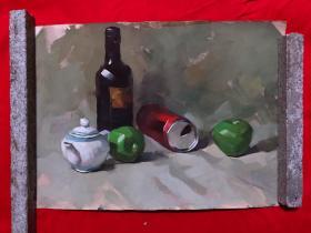 水粉画,8开,202,庞君薇