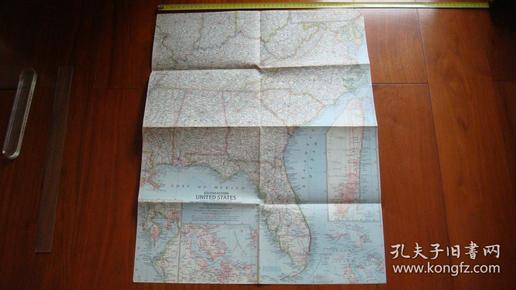 外国五十年代地图《美国东南部SOUTHEASTERN UNITED STATES》
