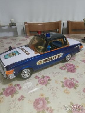 老铁皮玩具 大警车