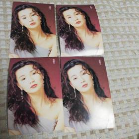 4张全新张曼玉明信片。风姿绰约