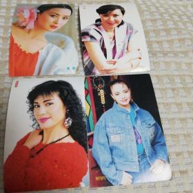 宋丹丹等4张全新女星明信片,周杰,张晓敏,方舒