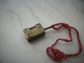 清代-迷你型【小铜锁】一套!4/3厘米