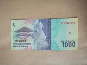 外国钱币 印度尼西亚纸币2016年版(面值1000)(货号:022)