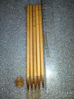 日本老毛笔(书画用笔),《4号,文字笔》5支。未使用,锋颖完整。