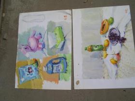 2004年中央美院毕业 徐斐水粉画十张  保真