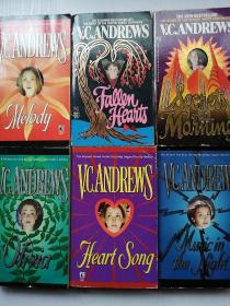 V.C.ANDREWS 系列【HEART SONG】【OLIVIA】【MUSIC IN THE NIGHT】【MELODY】【FALLEN HEARTS】【SECRETS OF THE MORNING】6本合售