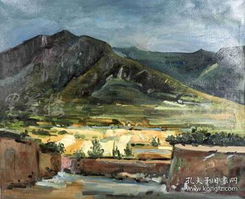 """著名油画家 师建龙 2018年布面油画作品""""远山""""一幅(尺寸:60*73cm)HXTX103807"""
