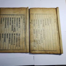 清代木刻医学书辑兰室秘藏卷六和外科精义目卷十八共两本