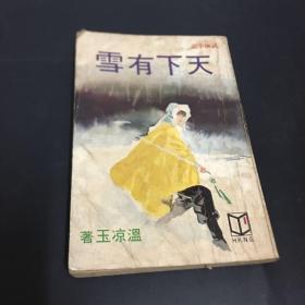 武林出版社武侠小说《天下有雪》初初