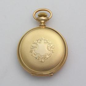 19世纪沃尔瑟姆古董镀金15钻全猎表 年代:1896 尺寸:52.5MM(不含表冠) 品相完好,非常漂亮,正常走时