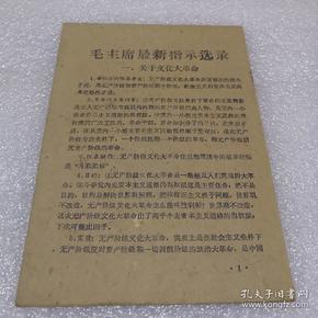 毛主席最新指示选录