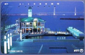 日本田村磁卡-城市、大桥、夜景--早期外国磁卡、杂卡等甩卖--实物拍照--永远保真--罕见