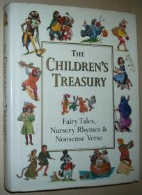英文原版书 The Childrens Treasury: Fairy Tales, Nursery Rhymes & Nonsense Verse 精装本 Hardcover – 2000