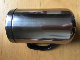 不锈钢家用口杯带盖杯子  本色(企业定制)