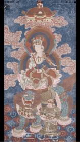 清代彩繪《觀音菩薩像》