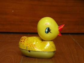 780年代 老铁皮玩具鸭子 老铁皮发条玩具