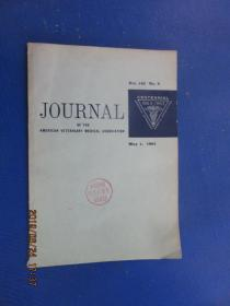英文版; JOURNAL  OF  THE  AMERICAN  VETERINARY  MEDICAL  ASSOCIATION   MAY1, 1963