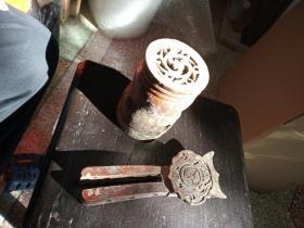 老潮州乐器配件,有雕工,带成香