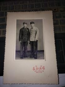 国营南京长江照相一张带卡纸(像片尺寸