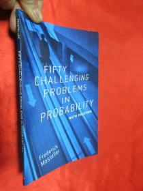 Fifty Challenging Problems in Probability with Solutions  【详见图】