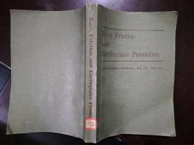 英文原版:岩石摩擦和地震预报 Rock Friction and Earthquake Prediction