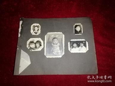 怀旧黑白老照片 五张 附在一张纸上(原照,如图自鉴)