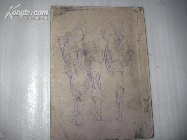少见文革油印版艺用人体资料带最高指示
