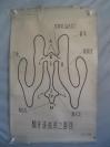 5-60年代 手绘  山东医学院挂图一张   脑脊液循环之路径 尺寸105*75厘米
