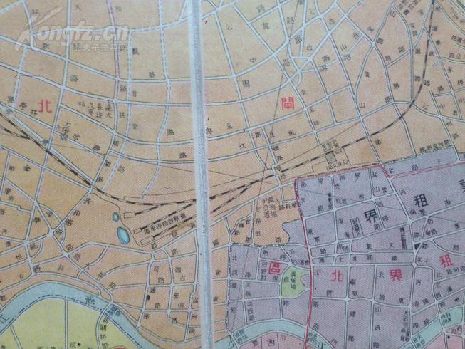 民国十四年版精装本《袖珍上海新地图》初中精印,涉及彩色第二届靖江市节的艺体季南图片