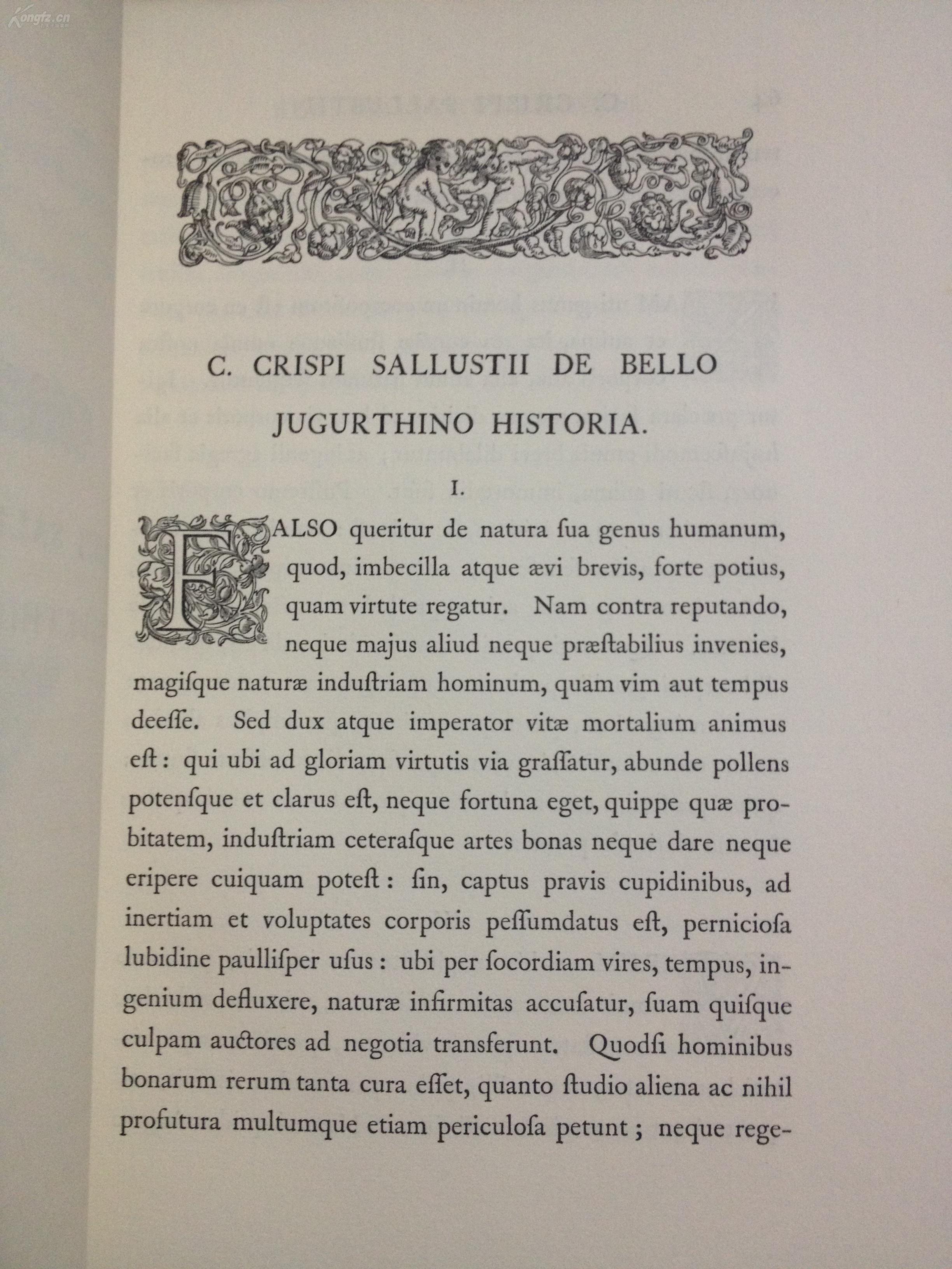 古罗马历史学家撒路斯提乌斯作品集图片