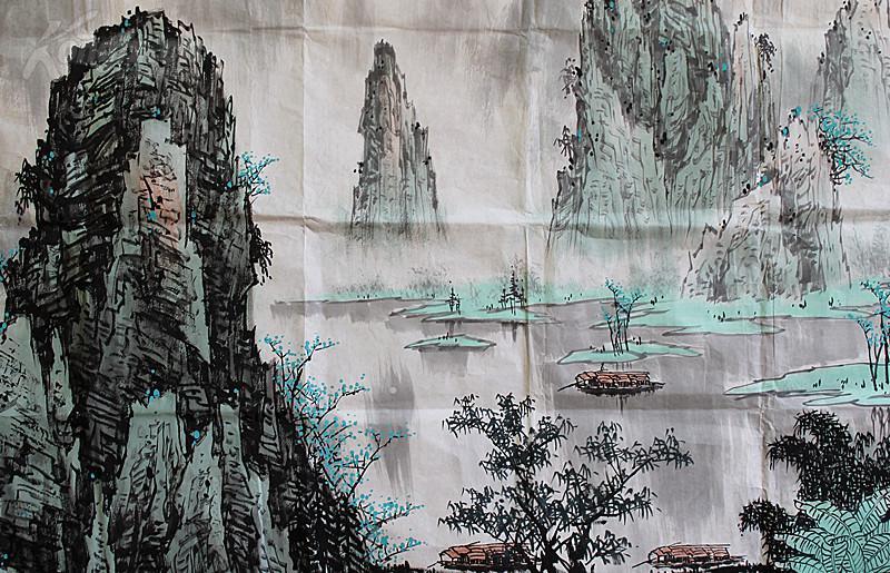 24平尺巨作北京山水画研究会会长白雪石 漓江春景图图片