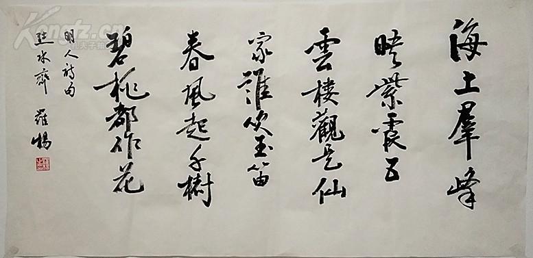 中国书法家协会理事 罗杨 书法诗句图片