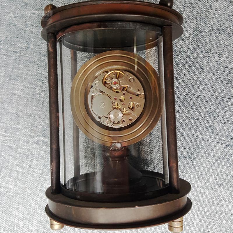 老黄铜机械怀表 瑞士omega欧米茄纯铜机械怀表 时钟 座钟 手动上劲 品图片