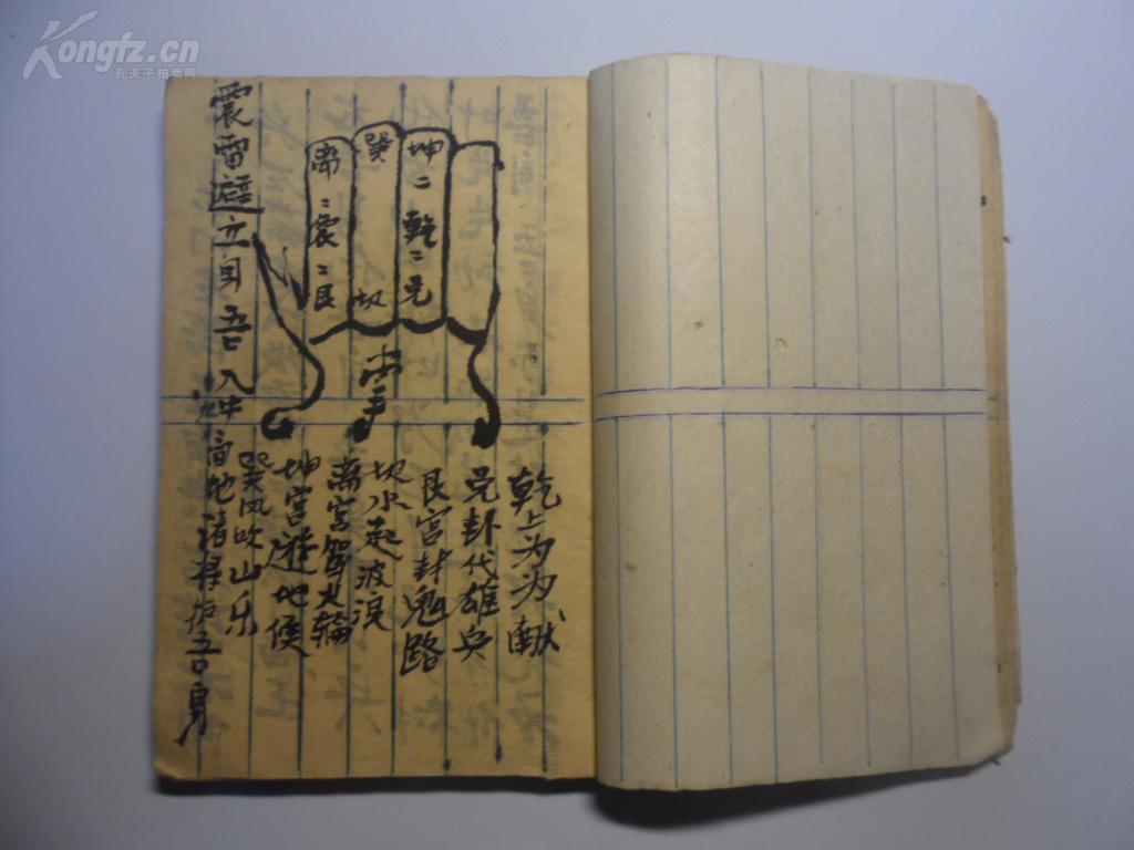 画家张利签名_手抄本道教符咒_不详_孔夫子旧书网