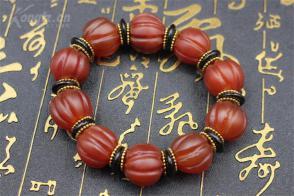 红玛瑙南瓜 女款 手串手链 念珠