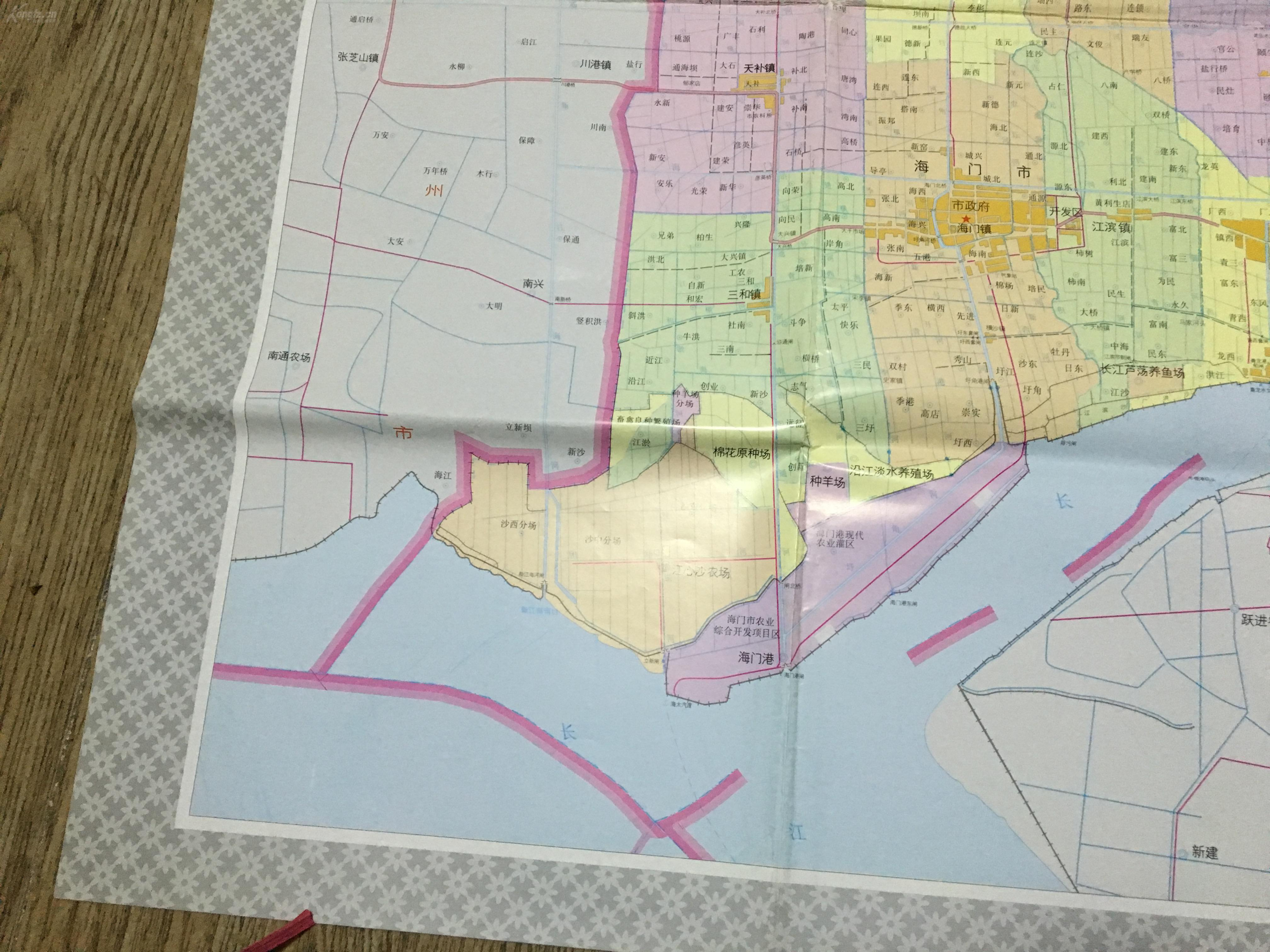 海门市地图 大幅