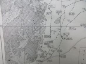 世锦签名校对 东汉末年以后太行山东形势图 30 24厘米