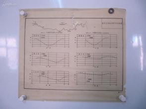 永定河水利资料老图纸一幅 -手绘原稿 《海河各测站潮水位曲线图》一张 蜡光纸 尺寸52/46厘米
