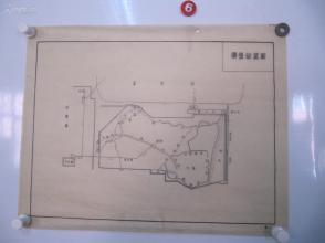 永定河水利资料图纸一幅-手绘原稿 《模型布置图》一张 蜡光纸 尺寸52/40厘米