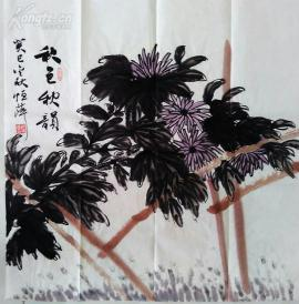 e001 国画花鸟斗方 秋色秋韵 68x68